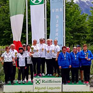Podio femminile Campionati Italiani a squadre 2019