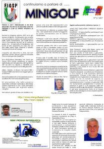 Giornalino Parliamo di Minigolf - numero3 Anno 2017