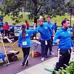 Anna Bandera e i coach e compagni di squadra - Europei 2018
