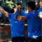 Paolo Porta - esultanza dopo la vittoria ai Campionati Europei di Porto 2012