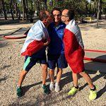 I campioni mondiali DEAF di golf su pista: Meanti, Gesualdi e Petracchi