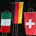 Vessilli squadre sul podio Europei di Predazzo 2018
