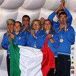 quadra Nazionale Elite Donne sul podio - Europei 2018 Predazzo