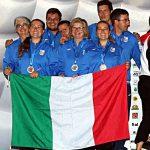 Squadra Nazionale Elite Donne sul podio - Europei 2018 Predazzo