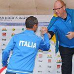Paolo Porta sul podio agli Europei 2018 di Predazzo