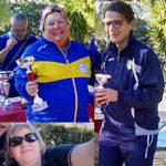 Susy Schàppy, Monica Dardi e Stefania Gesualdi: primo, secondo e terzo posto Seconda Categoria Femminile gara C2 Rapallo 2019