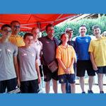 Domenico Garbui con i ragazzi della nazionale Junior 2019