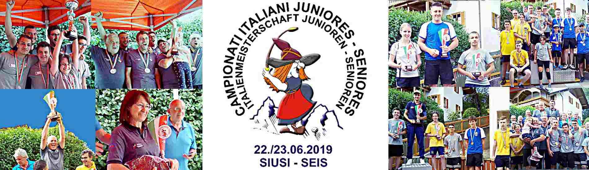 I Campioni Junior e Senior 2019
