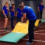 Rinaldo Foini prova il campo di Liepaja per la Nazionale Junior