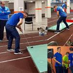 Raphael Brunello in allenamento - Campionati Europei Junior Liepaja 2019