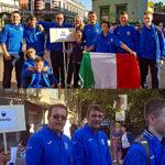 Nazionale italiana Junior in sfilata agli Europei di Liepaja 2019