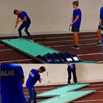 Valerio Marcoaldi durante gli allenamenti ai Campionati Europei di Liepaja 2019